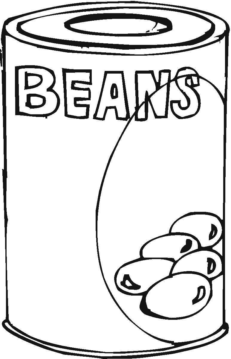 773x1200 Can Food Clip Art Coloring Pages Happy Bean Day!