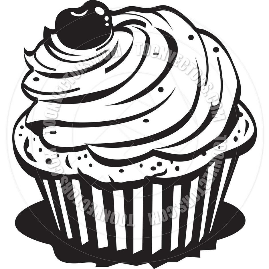 940x940 Baked Goods Clipart Black And White