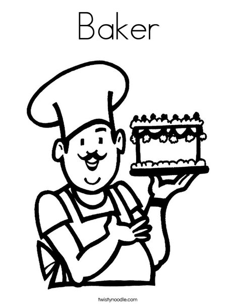 468x605 Baker Coloring Page