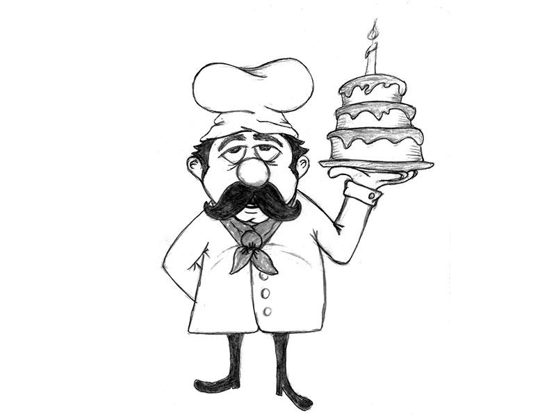 800x600 Baker Man Sketch By Amy Lyons