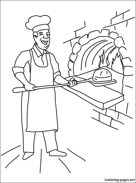 560x750 Baker Coloring Page Coloring Pages