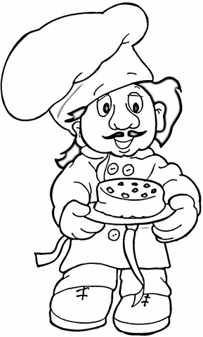 289x480 Baker Coloring Page Free Printable Coloring Pages