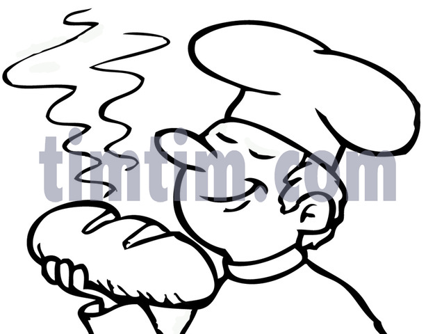 626x480 Free Drawing Of A Baker Bw From The Category Cooking Food Amp Drink