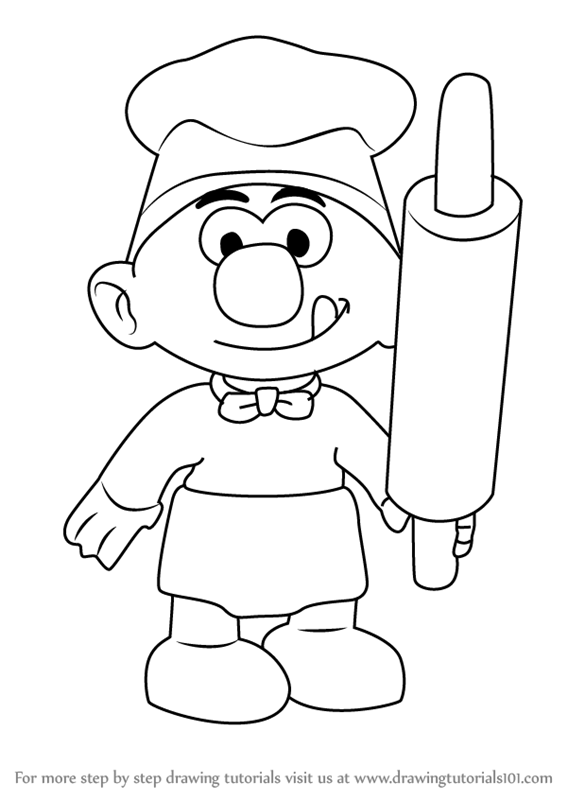 567x800 Learn How To Draw Baker Smurf From Smurfs