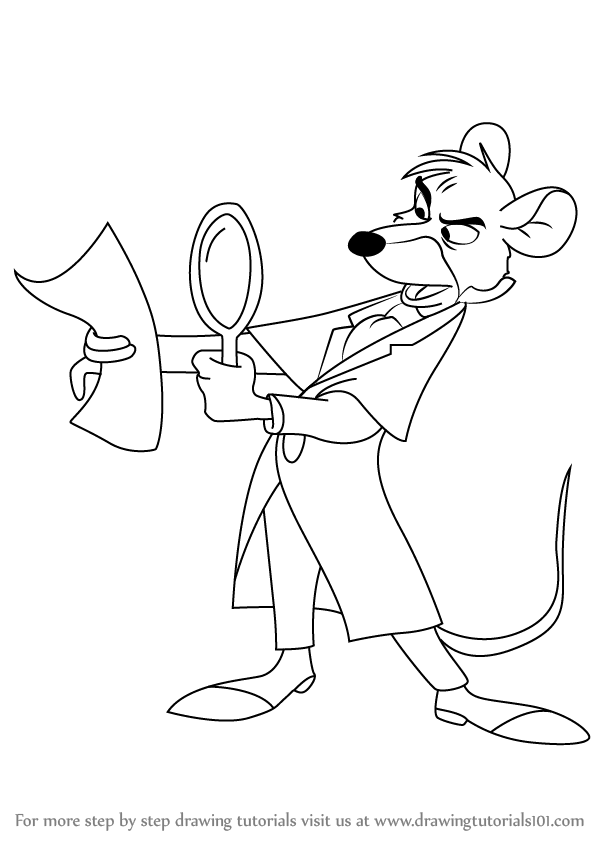 598x844 Learn How To Draw Basil Of Baker Street From The Great Mouse