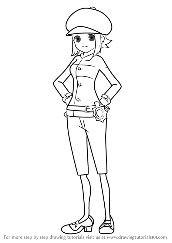 567x800 Learn How To Draw Lucy Baker From Professor Layton (Professor