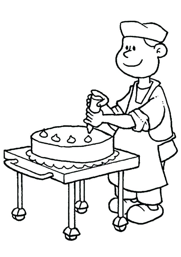 600x850 Bakery Coloring Pages Wedding Cake Coloring Pages Bakery