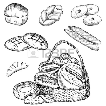 450x450 Bakery Hand Drawing Set Of Vector Sketches Royalty Free Cliparts