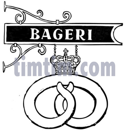 450x470 Free Drawing Of Danish Bakery Sign Bw From The Category Holidays