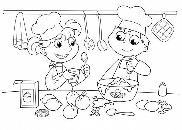 600x430 Bakery Coloring Pages Coloring Page For Kids