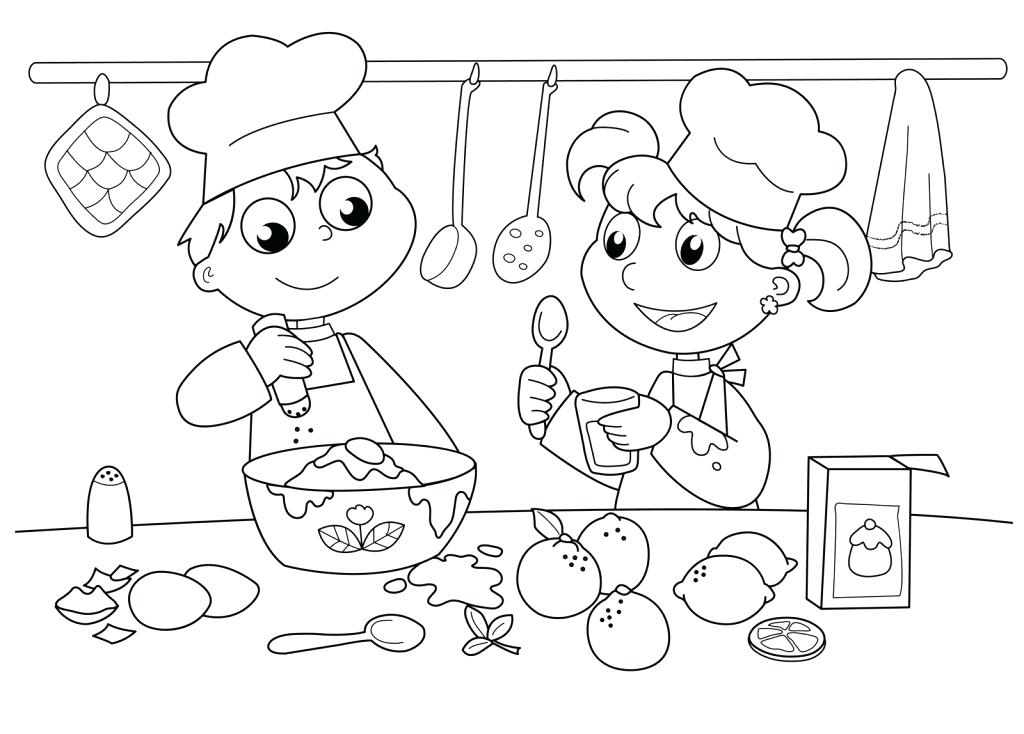1024x734 Bakery Coloring Pages