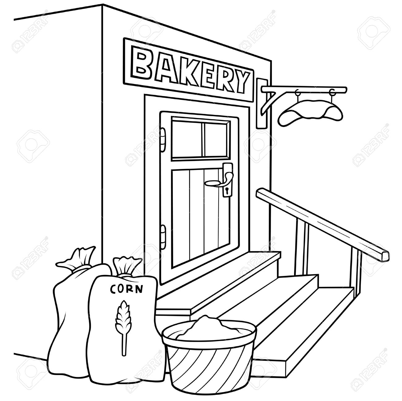 1300x1298 Bakery Black And White Clipart