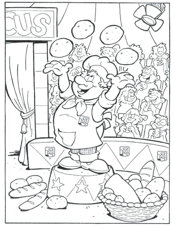 600x774 Bakery Coloring Pages Bakery Food Coloring Pages