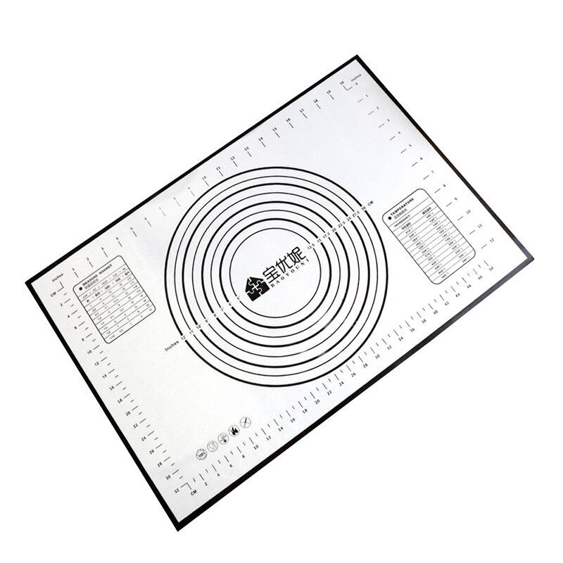 800x800 Baoyi Ni Kneading Mats Large Non Stick Silicone Gel Rolling Pad