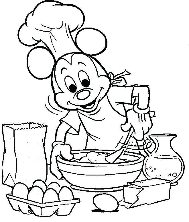 660x773 Cooking Coloring Pages Kitchen Teaching Daughter Cooking In