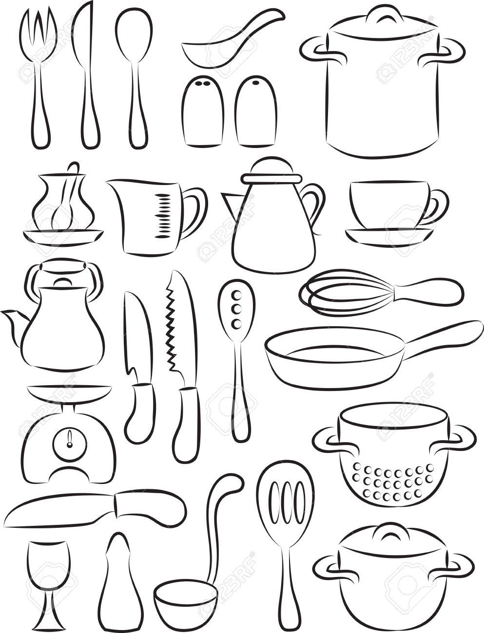 baking tools drawing at getdrawings com free for personal use