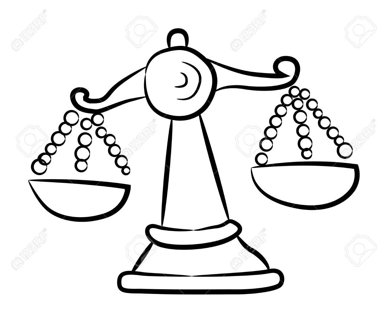 1300x1070 Cartoon Image Of Scales Icon. Balance Symbol Royalty Free Cliparts