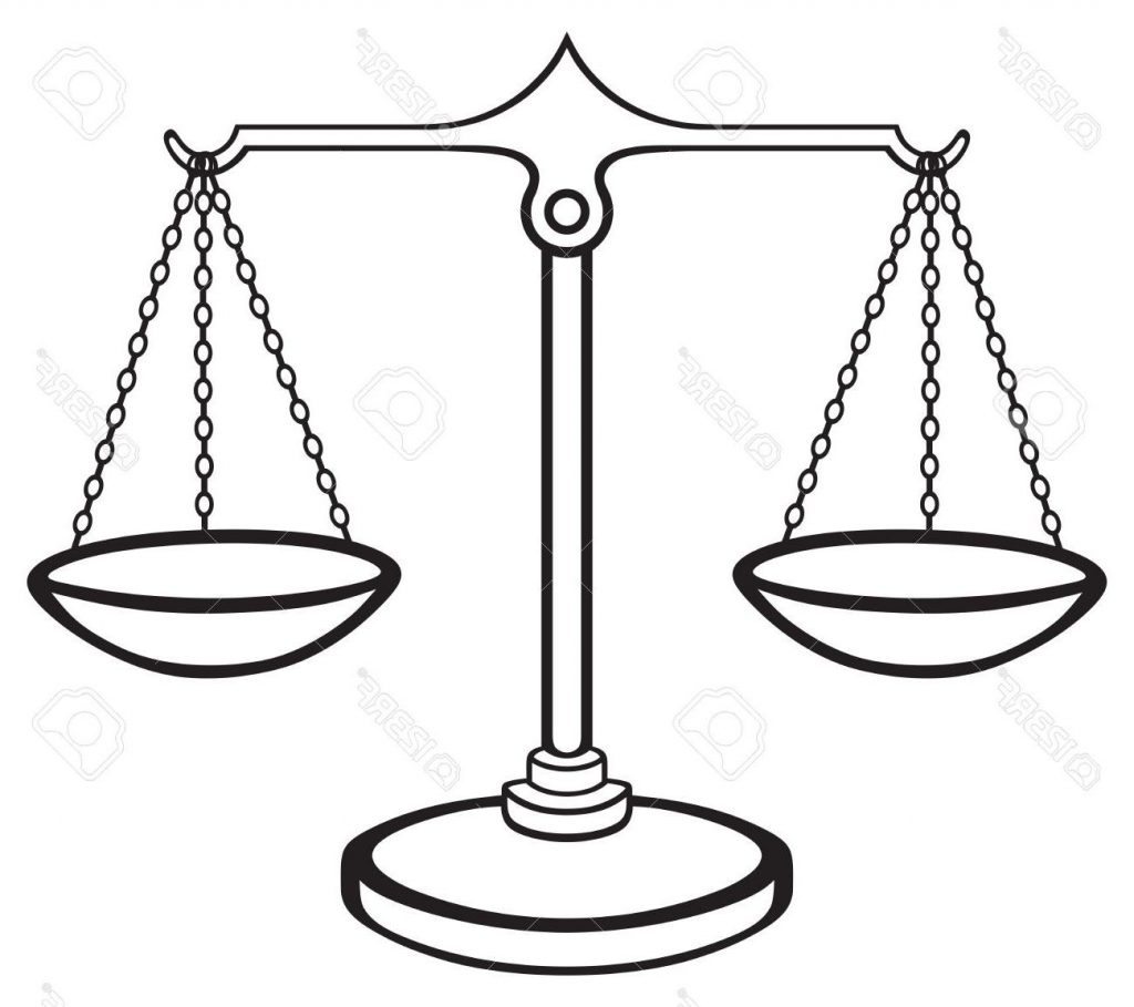 1024x909 Unique Scales Of Justice Isolated On White Background Stock Vector Cdr