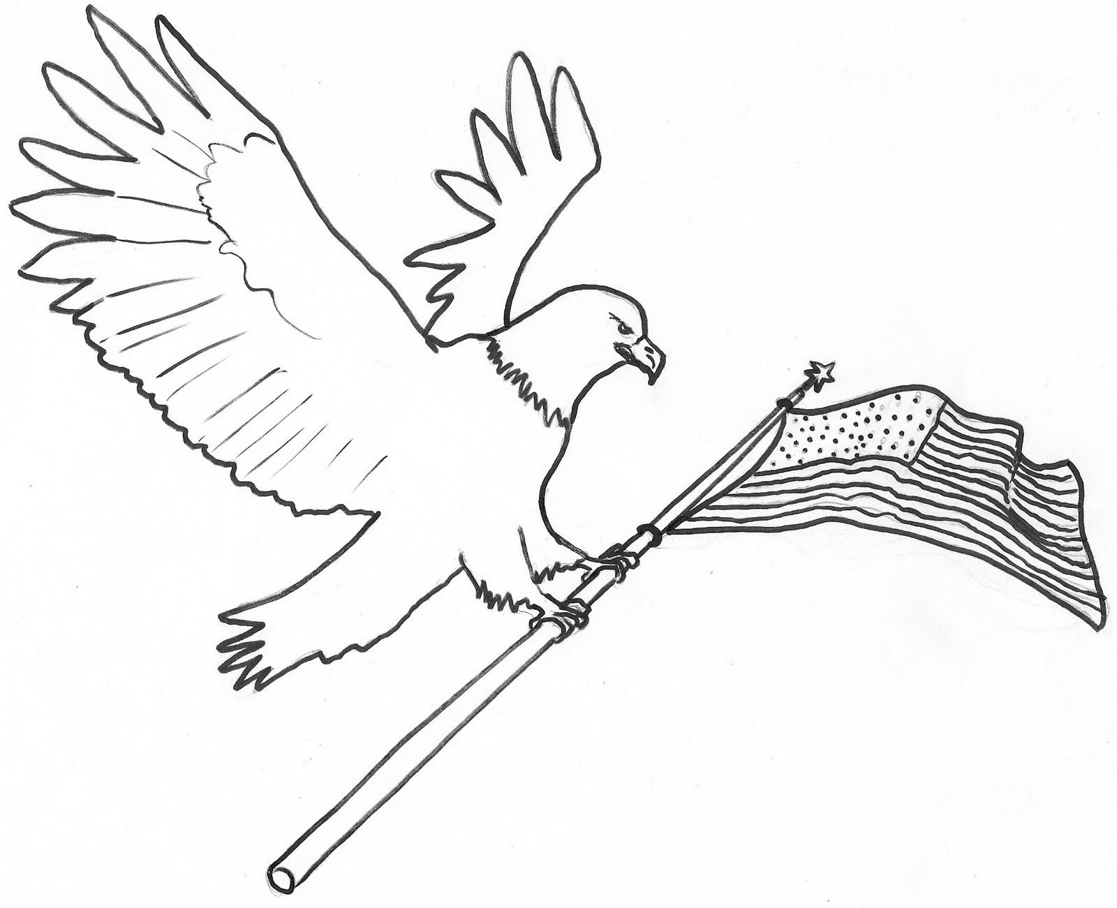 Bald Eagle Line Drawing at GetDrawings.com | Free for personal use ...