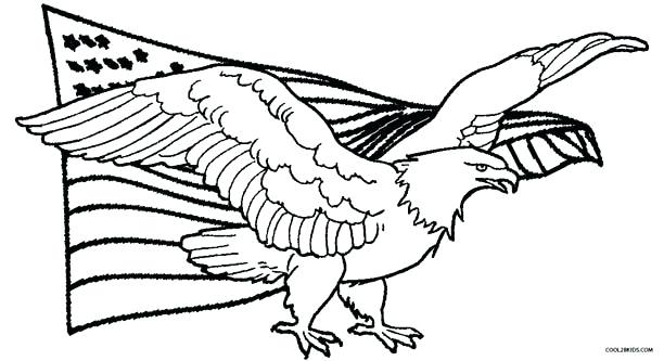 612x333 Bald Eagle Coloring Page Download Free