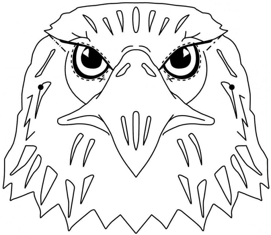 bald eagle outline drawing at getdrawings com free for personal