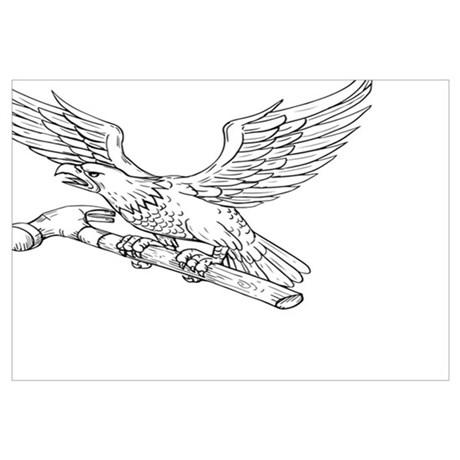 460x460 Bald Eagle Pencil Drawings Wall Art Cafepress