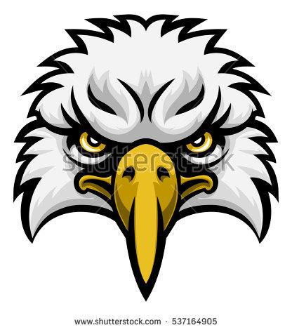 416x470 Drawn Reptile Eagle Head Front