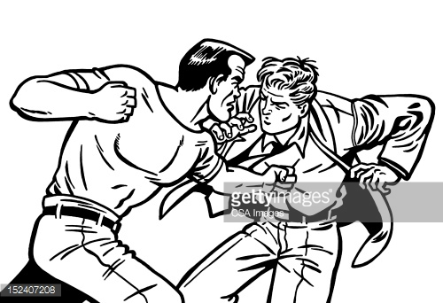 500x342 Bald Man Punching Another Man Bald Man, Free Illustrations