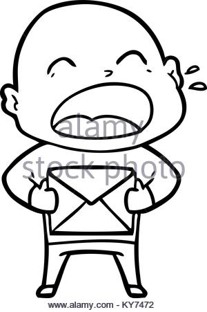 300x451 Cartoon Shouting Bald Man Stock Vector Art Amp Illustration, Vector