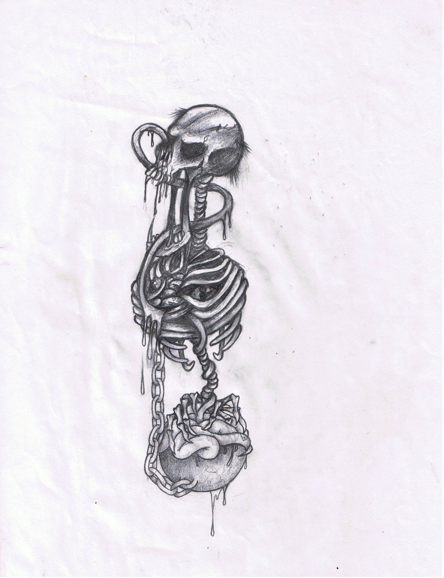900x1172 Ball And Chain Skeleton By Atrash666