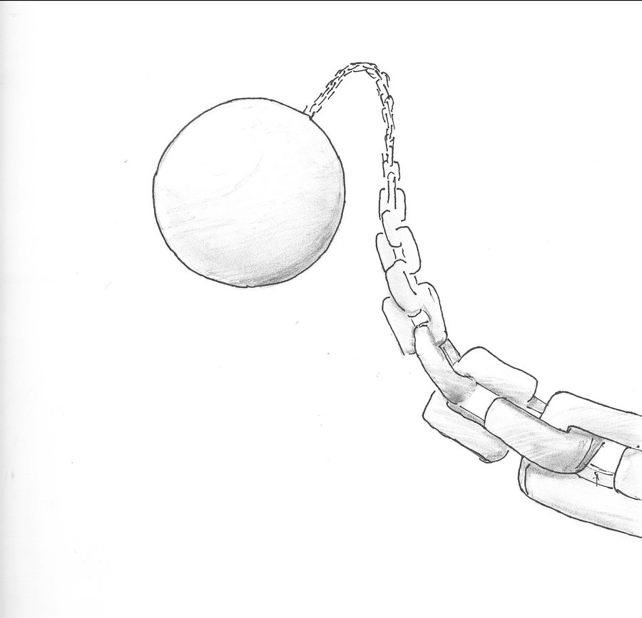 900x867 Ball And Chain By Monkeyblm