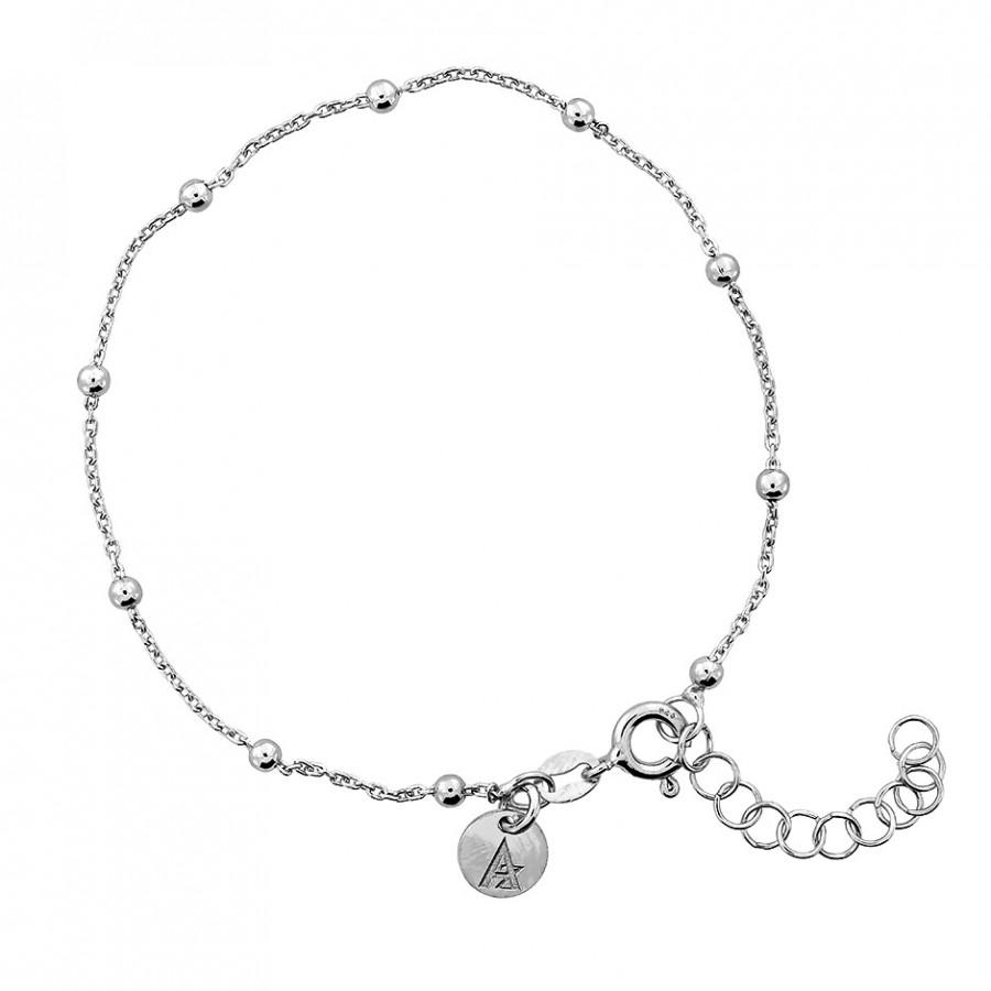 900x900 Silver Ball Chain Bracelet Azendi Jewellery