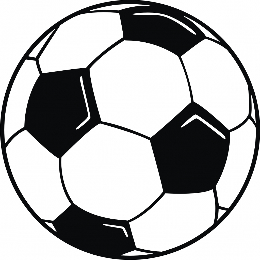 1024x1024 Drawing Of A Soccer Ball Soccer Ball Drawing