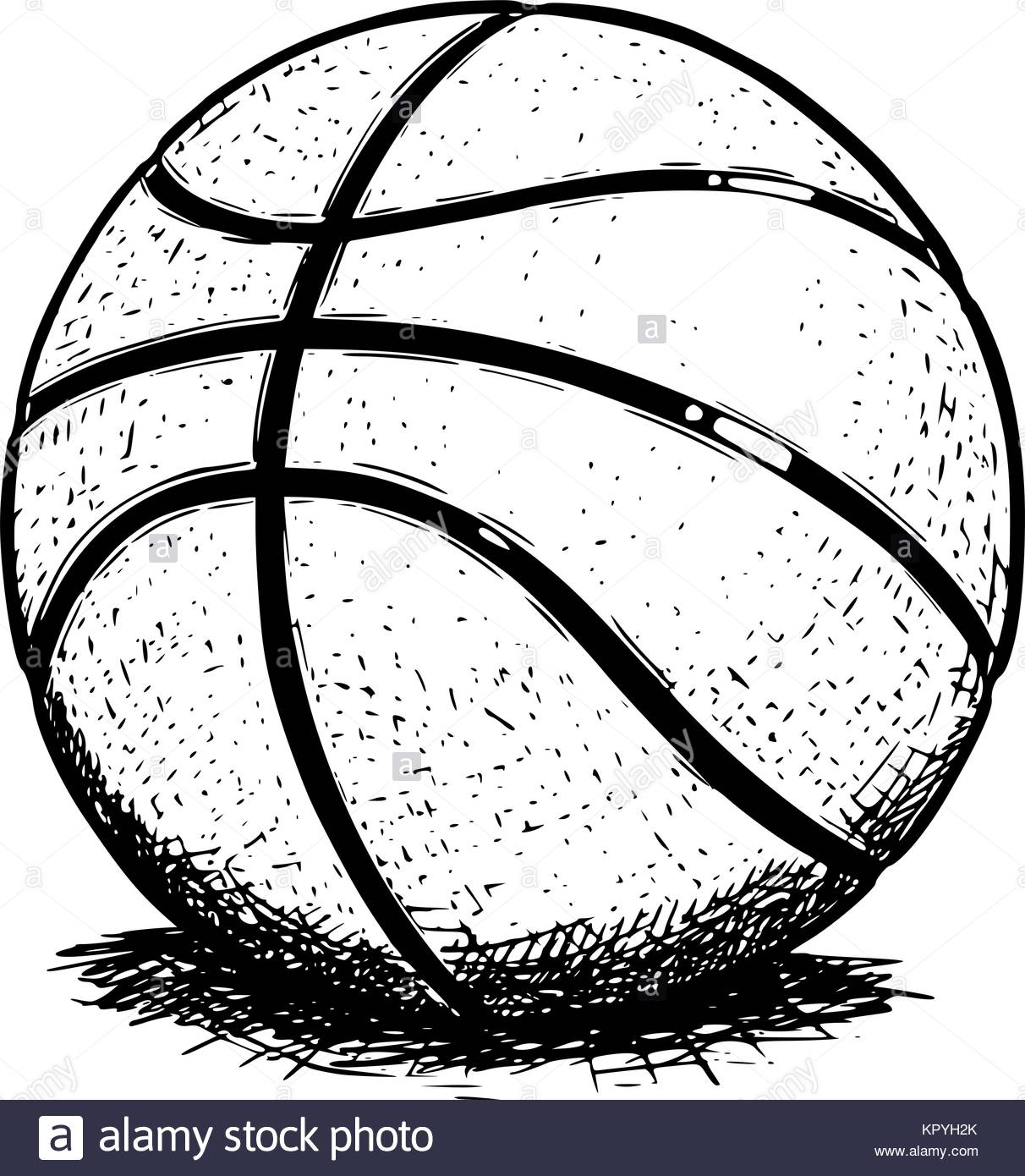 1212x1390 Vector Hand Drawing Drawn Illustration Of Basketball Ball Stock
