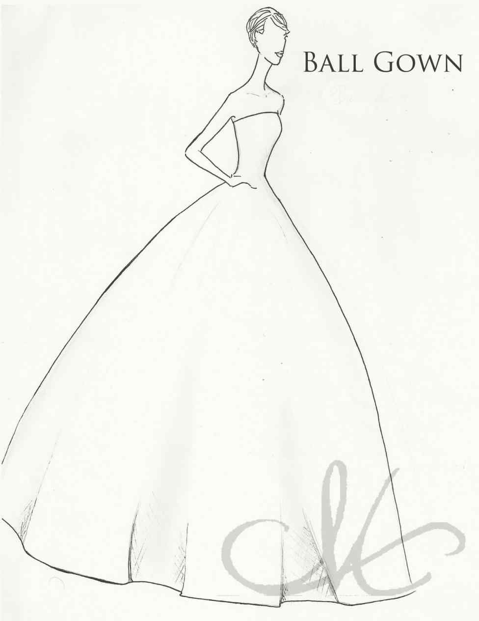 976x1264 Ball Gown Wedding Dress Sketches
