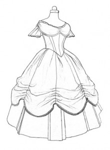 220x300 1860s Ball Gown Pattern