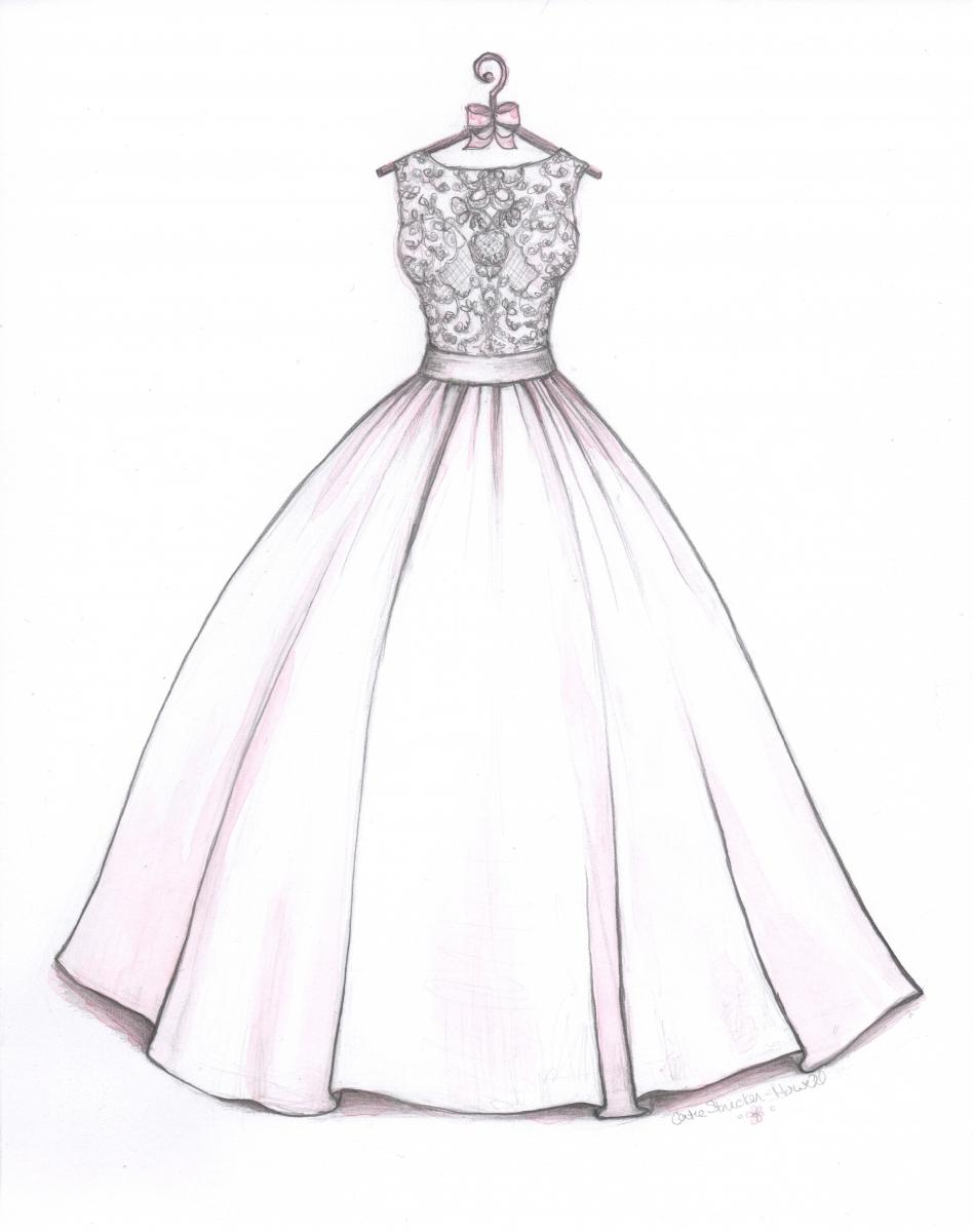 948x1200 Dress Sketch Easy Drawn Wedding Dress Ball Gown Dress