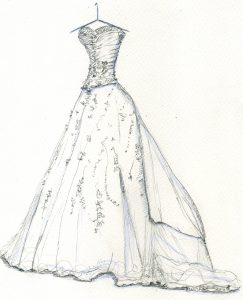 243x300 Ideas Collection How To Draw A Wedding Dress In How To Draw A Ball