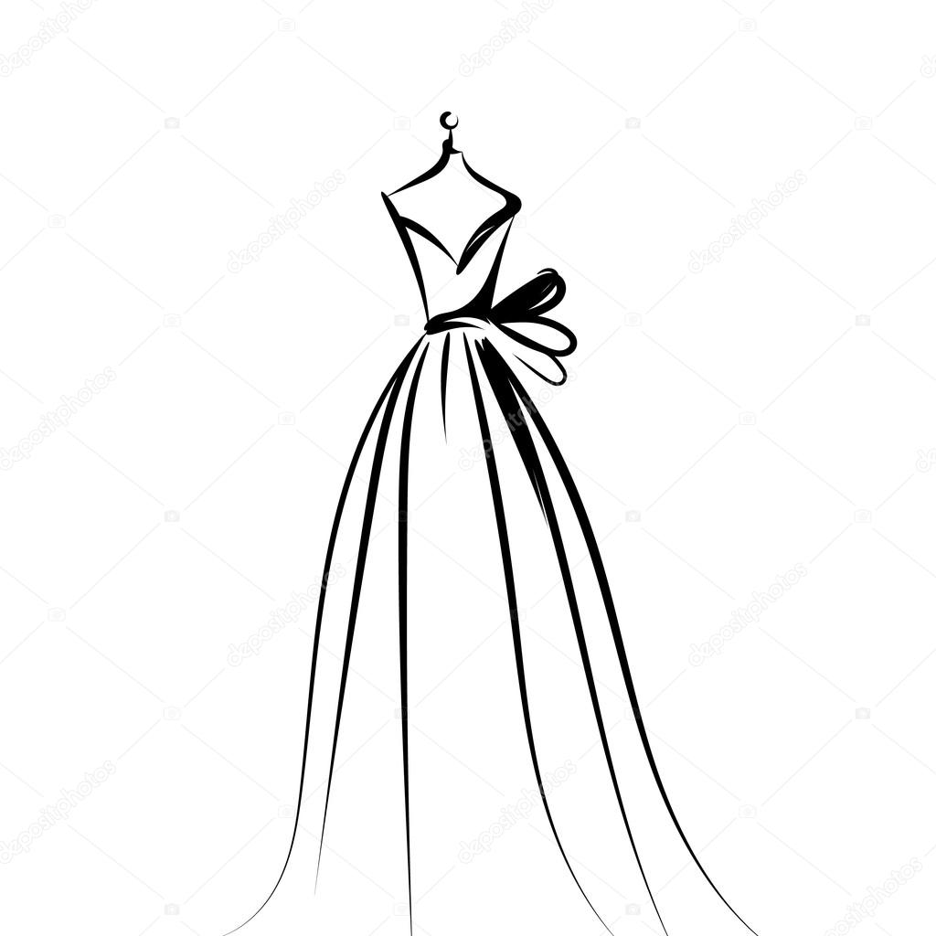 1024x1024 Dummy Dress Hand Drawing Illustration Vector Stock Vector