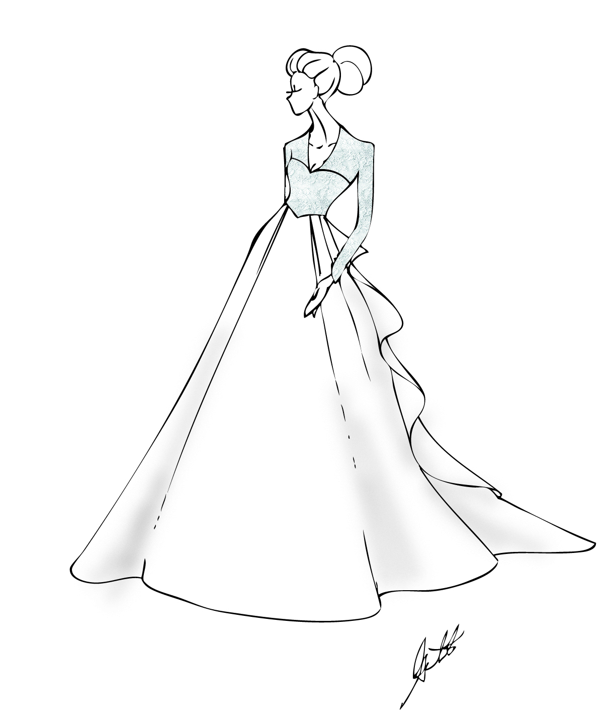 Ball Gowns Drawing At Getdrawings Com