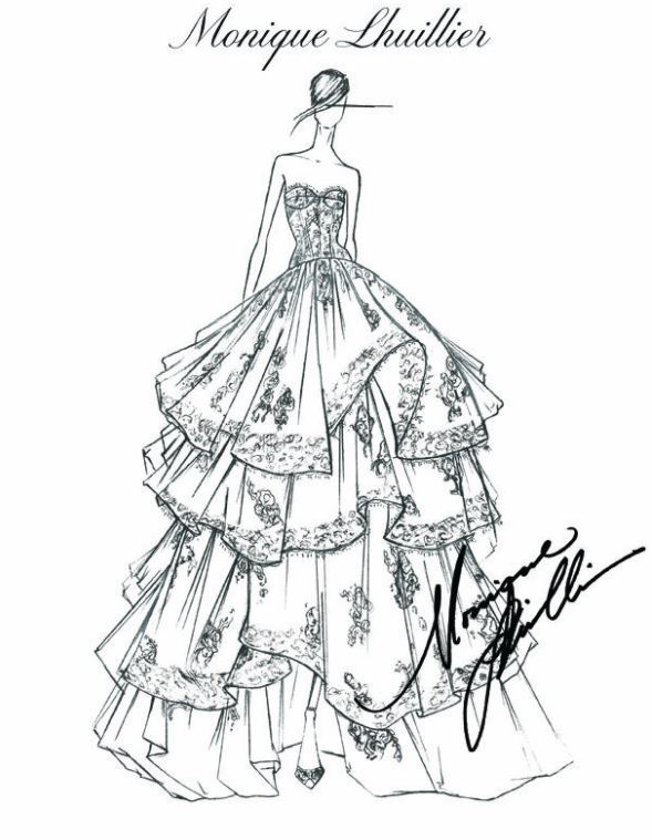 589x759 Fashion Design Sketches By World's Top Fashion Designers