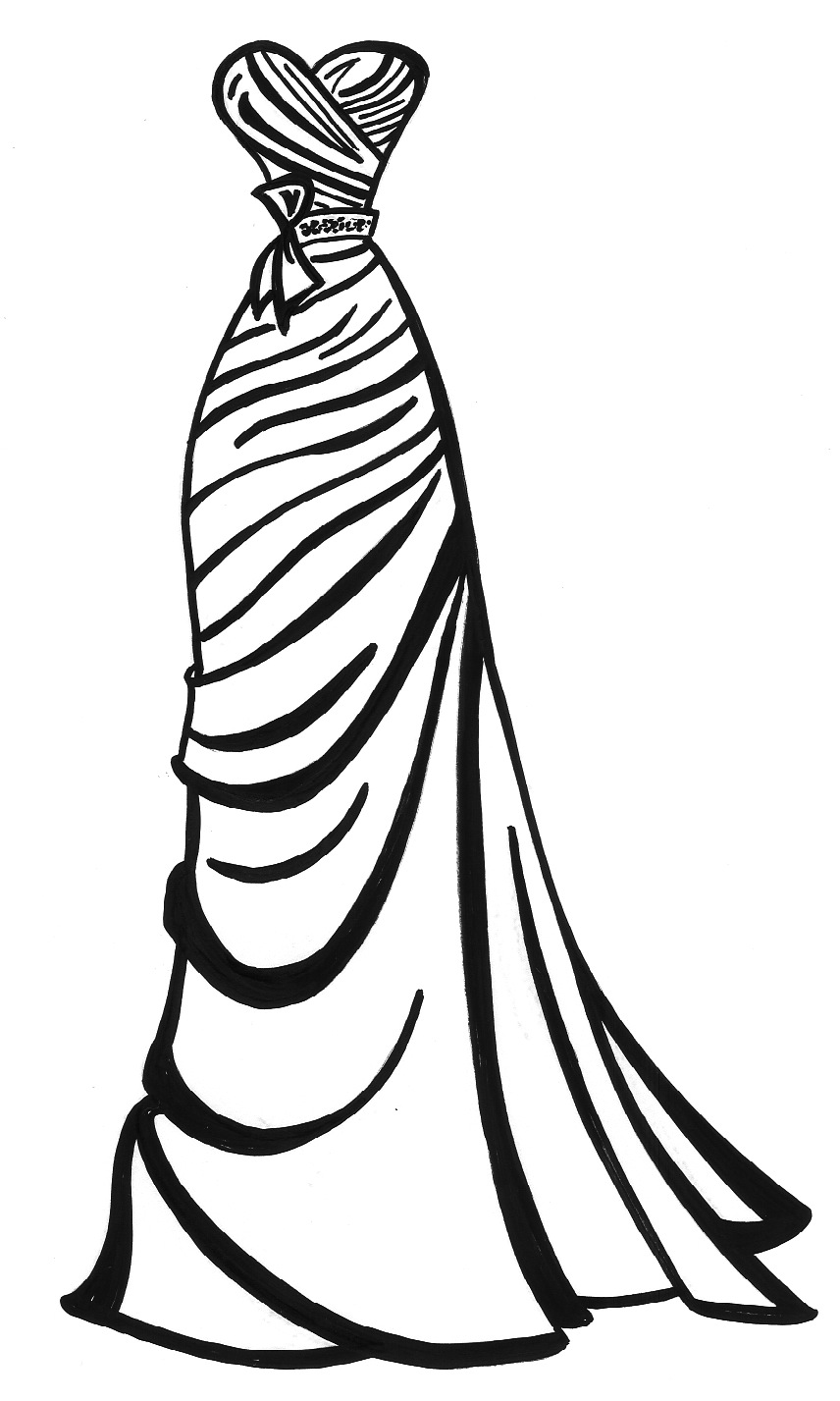 856x1427 Prom Dress Ball Gown Coloring Pages Fashion Dresses