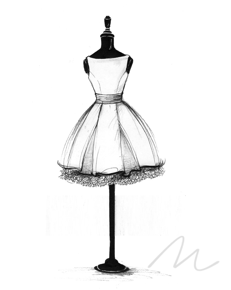 736x923 Ball Gown Wedding Dress Sketch By Catie Stricker Howell Allure