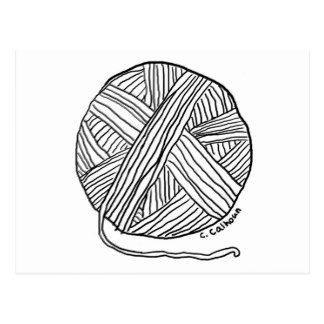 324x324 Ball Of Yarn Postcards Zazzle