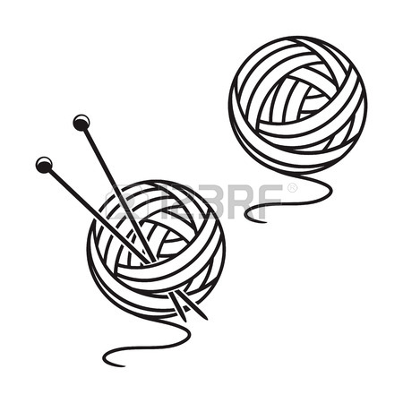 450x450 Two Balls Of A Yarn On A White Background. Royalty Free Cliparts