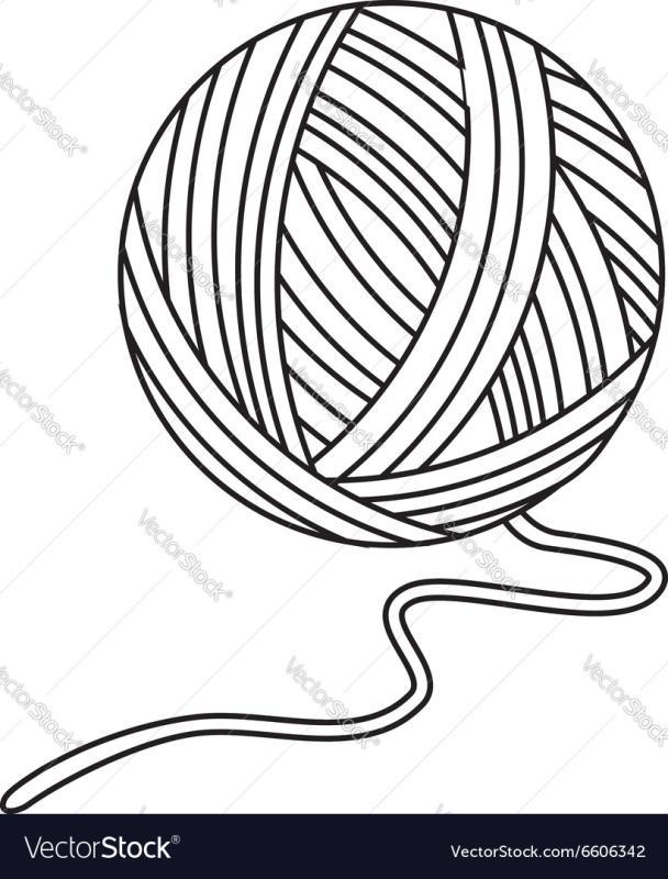 608x800 Yarn Ball Clipart