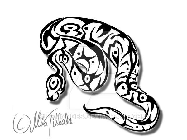 600x450 Ball Python Tattoo By Demondes