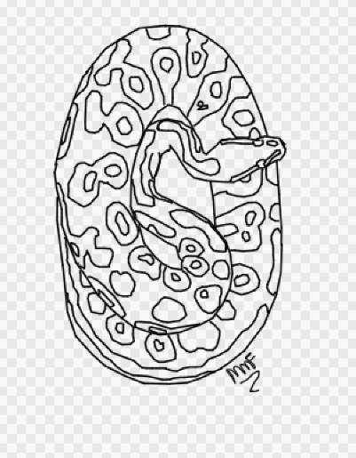 401x515 Free To Use Ball Python Lineart By Eponismoonlight