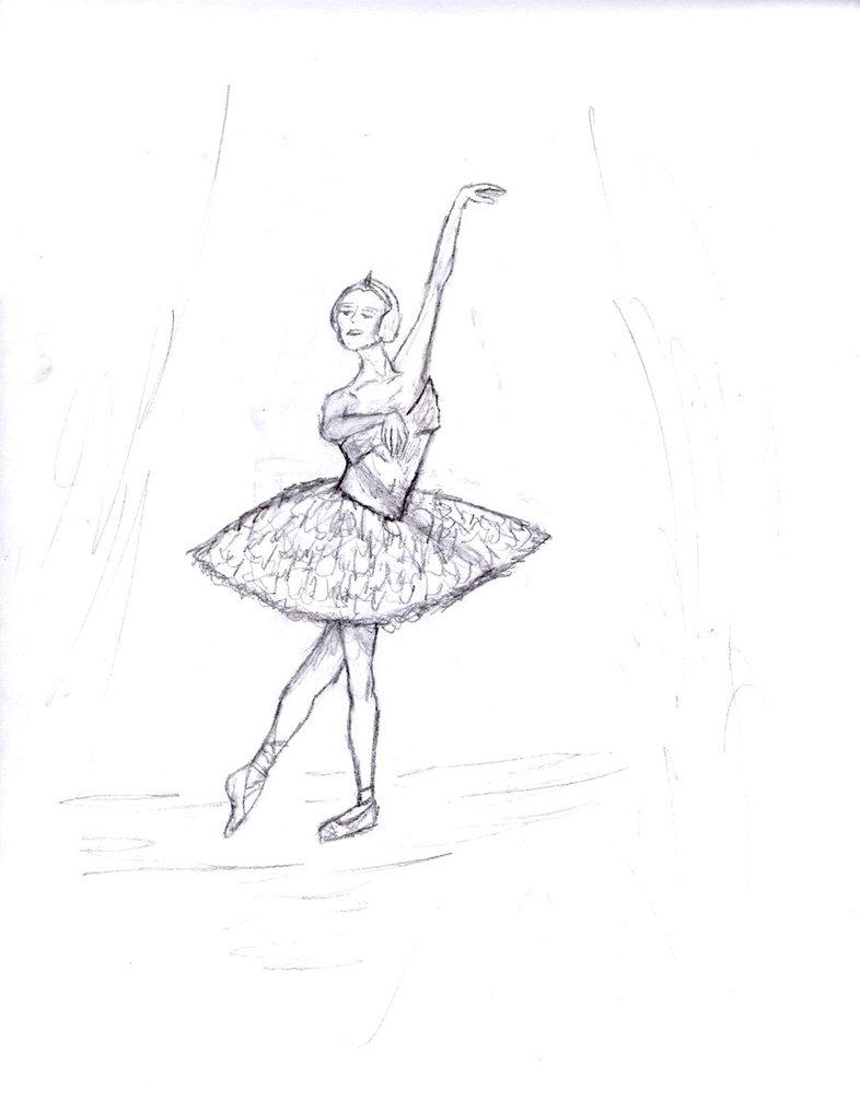 786x1017 Ballerina Sketch By Lizzallen