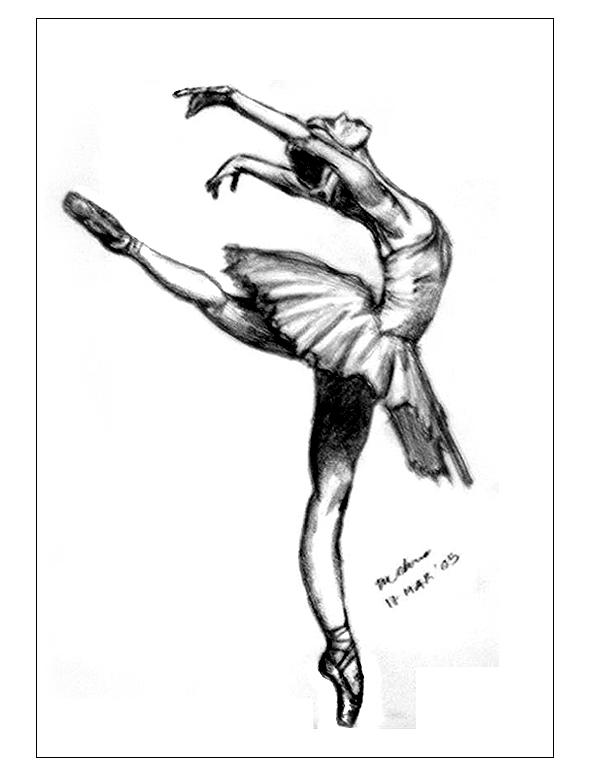 590x776 Black Swan Ballerina Drawing